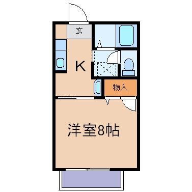 新倉敷駅前3丁目「海道」 1K 賃料¥45,000