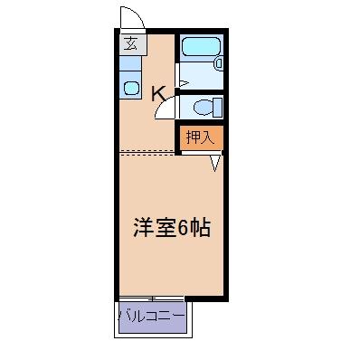 玉島爪崎「爪崎サンプラザ」 1K 賃料¥29,000
