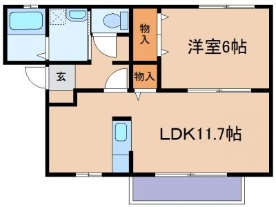 玉島阿賀崎「SKーⅠ」 1LDK 賃料¥50,000