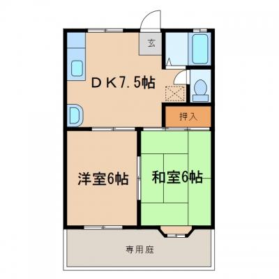玉島長尾「ファミーユ新倉敷」 2DK 賃料¥45,000