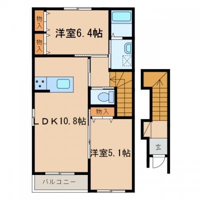 玉島八島「RICH CREST」 2LDK 賃料¥60,000