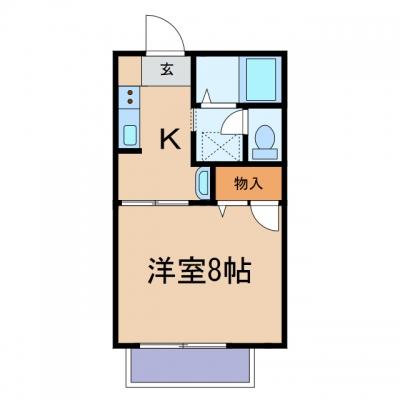 玉島上成「泰山」 1K 賃料¥42,800