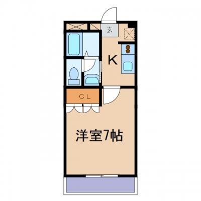 金光町占見新田「ゼフィランサス」 1K 賃料¥40,000