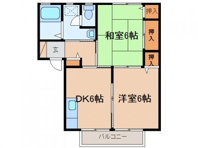 玉島長尾「ネオ・ニューク長尾」 2DK 賃料¥45,000