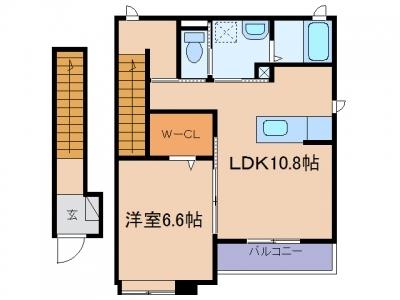 玉島上成「ハッピーハイム」 1LDK 賃料¥47,000