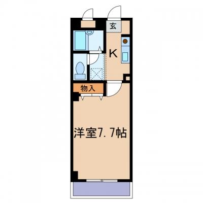 新倉敷駅前2丁目「NMB.B新倉敷」 1K 賃料¥39,000