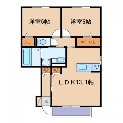 玉島乙島「カトルセゾン」 2LDK 賃料¥65,000