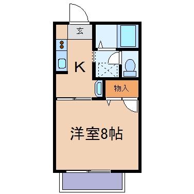 玉島上成「泰山」 1K 賃料¥43,800