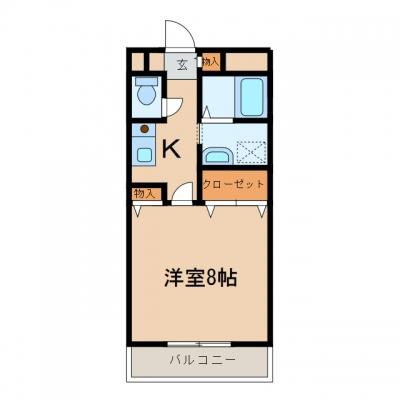 新倉敷駅前2丁目「サンビレッジ」 1K 賃料¥39,000