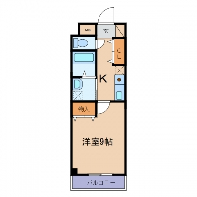 新倉敷駅前3丁目「プリート・カーサ」 1K 賃料¥45,000