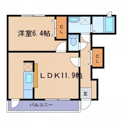 玉島「プリムラ ジュリアン」 1LDK 賃料¥46,500