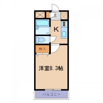 玉島爪崎「アムールパレスⅡ」 1K 賃料¥42,000