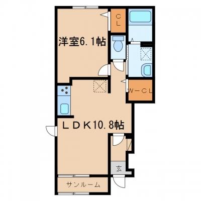 【新築】玉島中央2丁目「サンフェスタ」 1LDK 賃料¥55,500