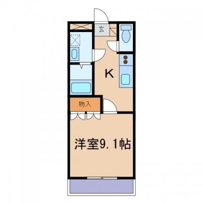 玉島乙島「グランドソレーユ」 1K 賃料¥42,000