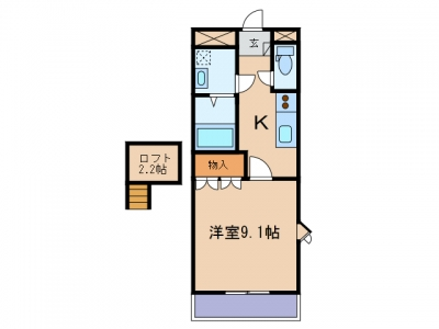 玉島乙島「エーデルワイス」 1K 賃料¥47,000